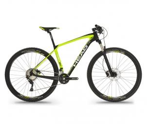 Vtt semi rigide head bike trenton ii 29 shimano slx 2x11v jaune m 170 180 cm
