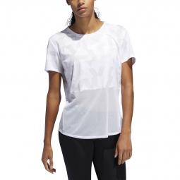 T shirt femme adidas own the run speed splits