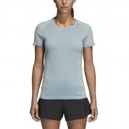 T-shirt femme adidas Primeknit Cru bicolore