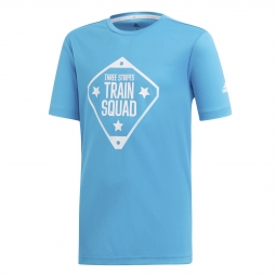 T shirt junior adidas train squad 15 16 ans