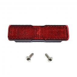 Catadioptre rouge entraxe 50 mm pour porte bagages arriere de velo