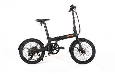 Vélo Pliant Électrique Venilu VIDA Single Speed Noir 2019