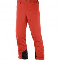 Pantalon de ski salomon icemania pant m fiery red xl