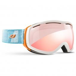 Masque de ski julbo elera otg blanc zebra light red flash rouge