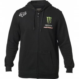 Sweat a capuche fox monster zip fleece black
