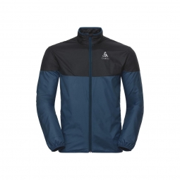 Veste coupe vent odlo core light blue coral black s