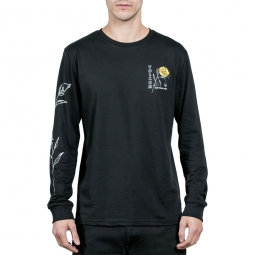 T shirt volcom happy times bsc ls noir s