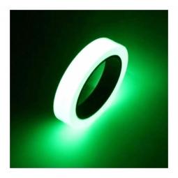 Rouleau autocollant vert phosphorescent pour la securite a velo