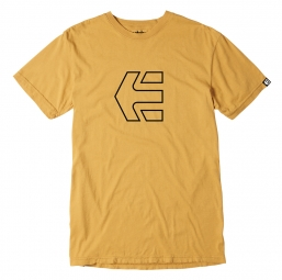 ETNIES ICON OUTLINE YOUTH SS TEE GOLD