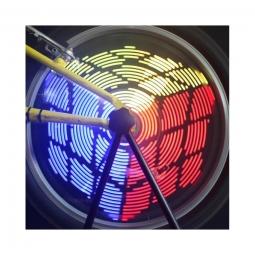 Eclairage pour roue de velo 96 led 220 lumens