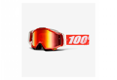 100% Googles racecraft / Fire red / Mirror red lens