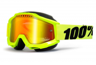 100% Googles Accuri / Fluo Yellow / Mirror Red Lens