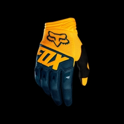Gants de vtt fox dirtpaw race glove navy yellow