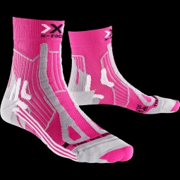 Chaussettes x socks trail run energy rose gris 37 38