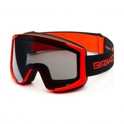 Masque De Ski Briko Lava Xl 2 Lenses Fluo Orange Black