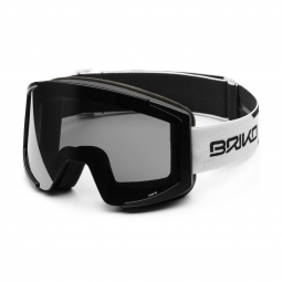 Masque De Ski Briko Lava Xl 2 Lenses Matt White Black