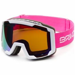 Masque De Ski Briko Lava Matt Pink White