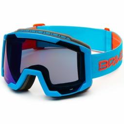 Masque De Ski Briko Lava Matt Sky Blue Orange Fluo