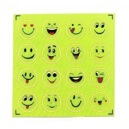 Planche mini stickers smiley pour securite enfant a velo