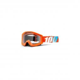 Masque Vtt 100% Strata Youth Orange - Ecran Clair