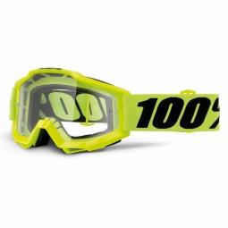 Masque Vtt 100% Accuri Otg Fluo Yellow - Ecran Clair