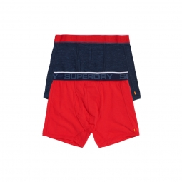 Boxer superdry tipped sport boxer double pack red xl