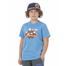 T shirt picture organic ouray peak kids blue