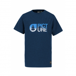 T shirt picture organic roots dark blue