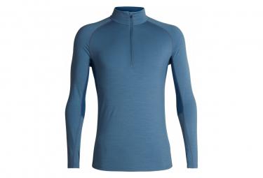 9d7843bd20740 promo Sous-vêtement Icebreaker M 200 Zone Ls Half Zip Blue