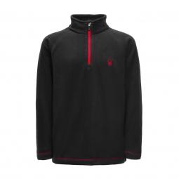 Polaire spyder boy s speed fleece top black red