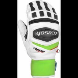 Gants De Ski Racing Reusch Training R-tex Xt Mitten White/neon Green