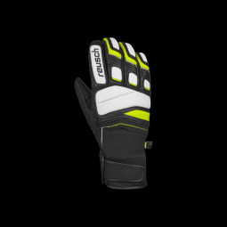 Gants De Ski Racing Reusch Profi Sl White / Neon Yellow