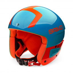 Casque De Ski Briko Vulcano Fis 6.8 Jr Sky Blue Orange