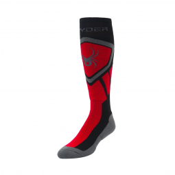 Chaussettes de ski spyder dare black red polar