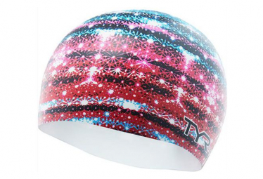 TYR GLITZ GRAPHIC SWIMCAP blue red