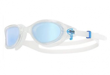TYR Polarized Triathlon Glasses White