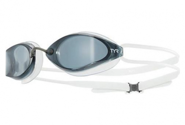 TYR Tracer X racing swimming goggles - white