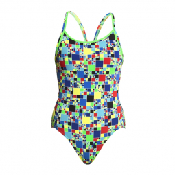 Funkita fille 1 piece rubik s runner diamond back 8 9 ans