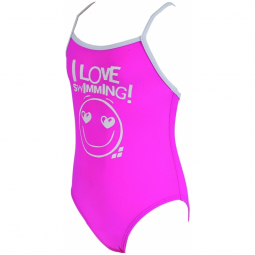 Maillot enfant fille 1 piece arena lovely kids one piece rose pink white 4 5 ans