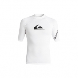 Tee shirt quiksilver all time boy ss wbbo white 10 ans