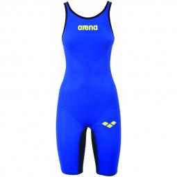 Arena carbon air closed electric blue titanium blue combinaison natation femme dos ferme 40