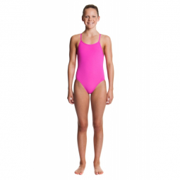 Funkita fille 1 piece still pink diamond back 14 15 ans