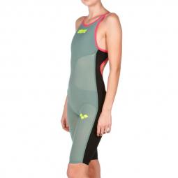 6081c5a2ea2 ARENA Carbon Air Open Back - Dark Green Fluo Red - Combinaison Natation  Femme dos ouvert