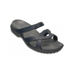 Image of Crocs women meleen twist sandal navy storm 41 1 2