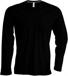Kariban T-shirt manches longues col V - K358 - noir - homme