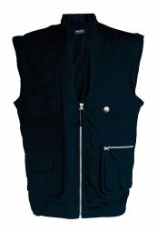 Kariban gilet safari photographe multipoches k670 bleu marine veste legere sans manches reporter xs