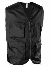 Kariban gilet safari photographe multipoches k624 noir veste legere sans manches reporter xs
