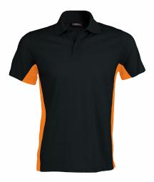 Kariban polo bicolore homme k232 noir orange manches courtes