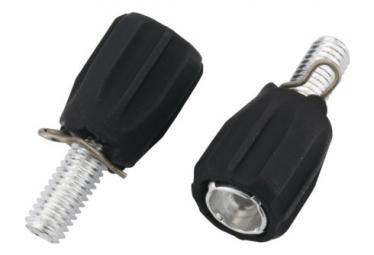 Image of Ajusteurs jagwire index adjusting barrel m5 rubber coated black 2pcs