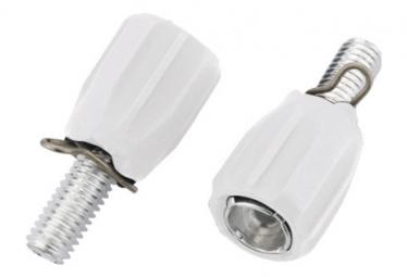 Image of Ajusteurs jagwire index adjusting barrel m5 rubber coated white 2pcs